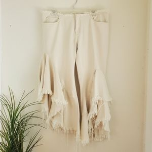 MARQUES/ALMEIDA Ruffled Flared Pants